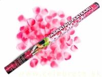 Vystreľovacie konfety 80cm ružové lupene