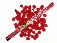 Vystreľovacie konfety 80cm bordové lupene