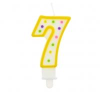 Sviečka číslo 7 bodky