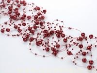 Perličky na silikóne bordové