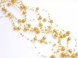 Perličky na silikóne zlaté matné
