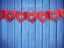 Girlanda Srdcia červená