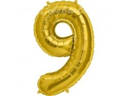 Fóliový balón č.9 zlatý