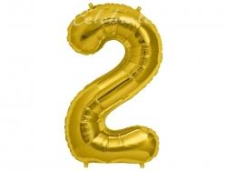 Fóliový balón č.2 zlatý