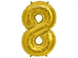 Fóliový balón č.8 zlatý