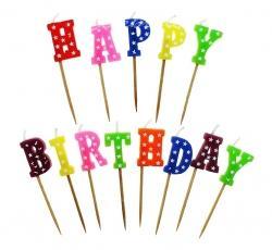 Sviečky Happy Birthday 1
