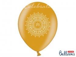 Balóny IHS zlaté, 6ks