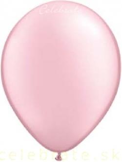 Balón perleťový ružový,10ks