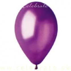 Balón perleťový fialový tmavý,10ks