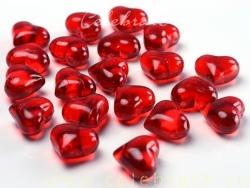 Srdiečka akryl červené